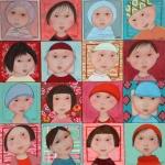 -Veilhan. Bébés Vietnamiens. (20X20)x16